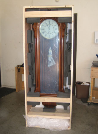 Packed Antique Clock
